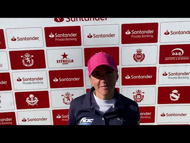 Entrevista a Elia Folch tras la 1ª Jornada del Santander Campeonato De España de Profesionales