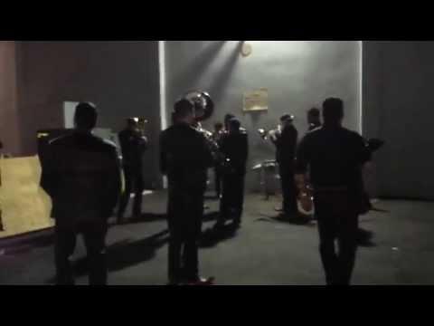 BANDA MS Ensayando en Backstage - 2014 (#1)
