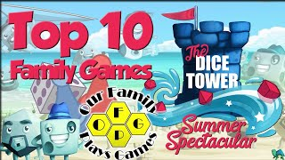 Top 10 Family Gaṁes (Featuring Tom, Zee, & Our Family Plays Games)