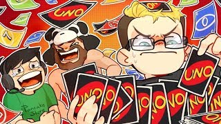 THE BIGGEST HAND IN UNO EVER! - Uno Funny Moments