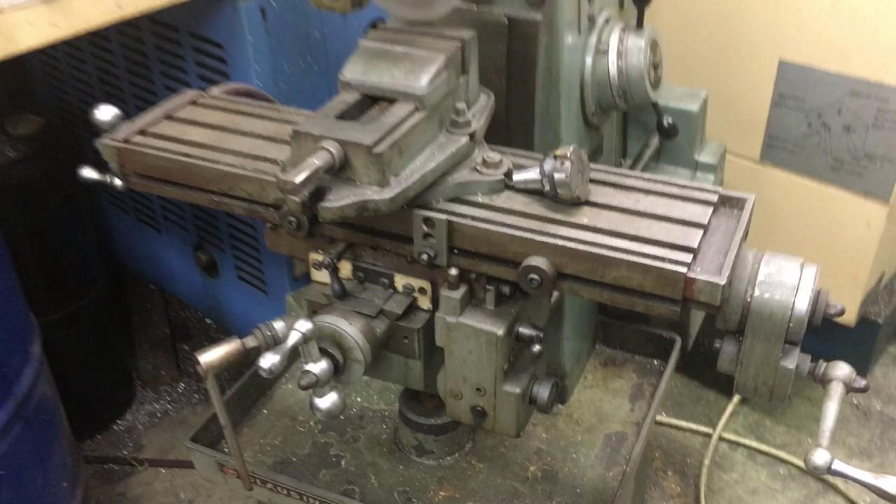 Clausing Model 8540 Horizontal Mill W Extras Youtube