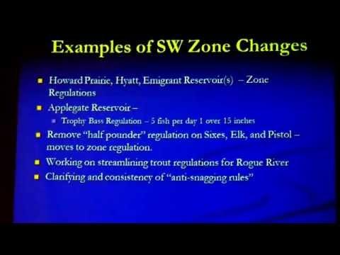 ODFW - SW Oregon Fish Wildlife Rules Regulations (16 Jun 2015)