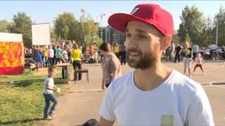 Жители Микрорайона Чкаловский обняли озеро