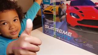 Scalextric Supreme Velocity Aston Martin Track Set With Rc Unboxing Test Drive Youtube