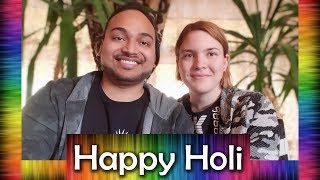 Happy Holi | Foreigner wishes Holi in Hindi | Foreigner talks Hindi