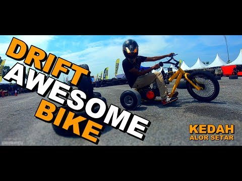 DRIFT BIKE DI KEDAH - BUKAN KALENG KALENG | DRIFT TRIKE | ROCKBIKE DRIFT