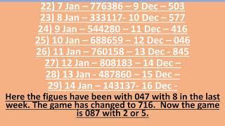 14 December 2018 Jumbo Kerala ABC Lottery Tips and Tricks No 187