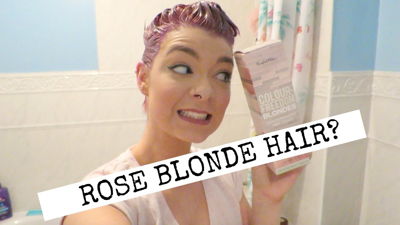 Dying My Pixie Cut Rose Blonde Hair Youtube