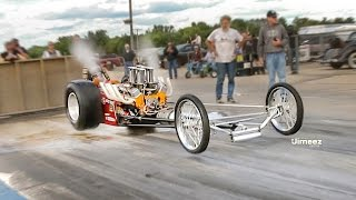 "4-ΑΩ TIN GOD! WHEELS UP BURNOUT! CRAZY PASS! 100% ORIG! 120"" SLINGSHOT DRAGSTER!"