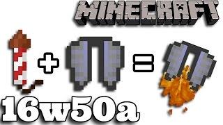Minecraft  1.11.1 16w50a : Odrzutowa Elytra | Zaklęcie do broni | Iron Nugget