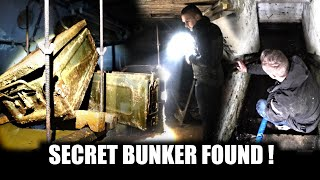 Secret water-filled bunker with everything still inside!