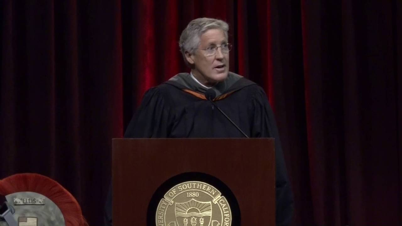 Pete Carroll USC Commencement Speech | USC Marshall School of ...