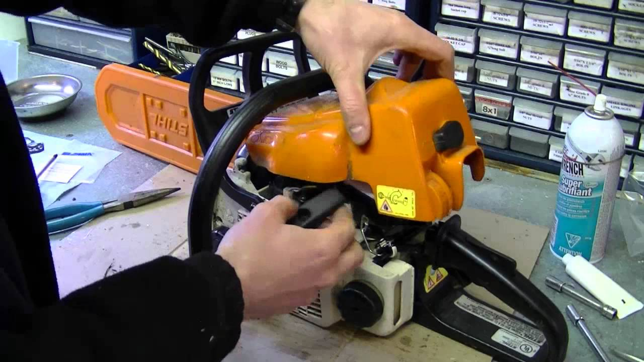 how to carburetor fuel line repair on stihl 017 ms170 018 m180 chainsaw part 3 3 youtube [ 1280 x 720 Pixel ]