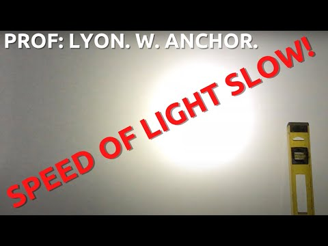 Light Speed Measured.... Proving the flat Earth.... Experiment 5.... Prof L W Anchor. thumbnail