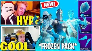 Streamers React to *NEW* Fortnite FROZEN LEGEND SKINS!! (SEASON 7)