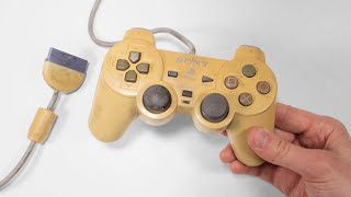 I restored extremely yellowed Dualshock controller for my PSone - Playstation restoration
