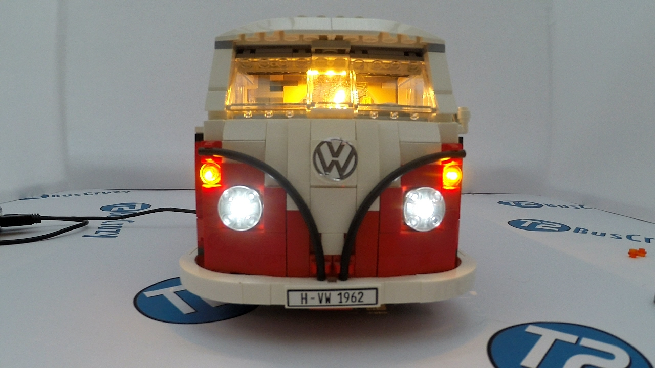 Led light kit install in the lego volkswagen t camper youtube