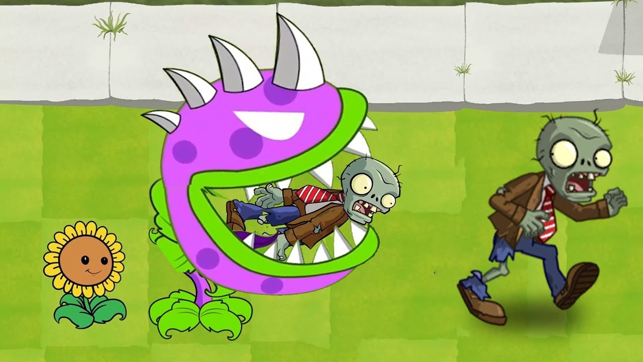 rostlin vs zombie zahradní bojování dohazování
