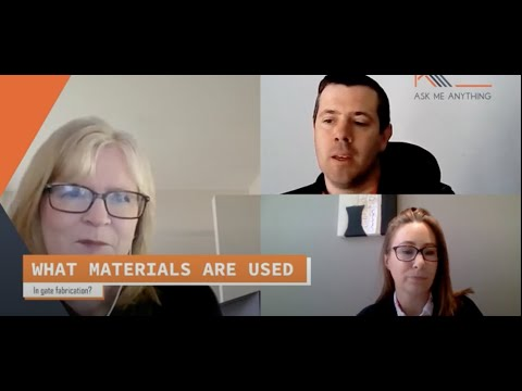 What materials are used to make gates
