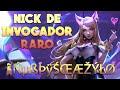 NOMBRE DE INVOCADOR Con CARACTERES ESPECIALES - YouTube