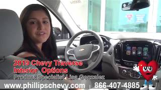 2019 Chevy Traverse Interior Options at Phillips Chevrolet