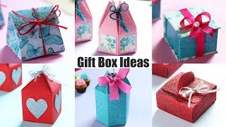 Check out 6 easy gift box ideas. #diy #giftbox #craftideas our social media: subscribe : https://bit.ly/2u3pi06 facebook: https://bit.ly/2us0njj insta...