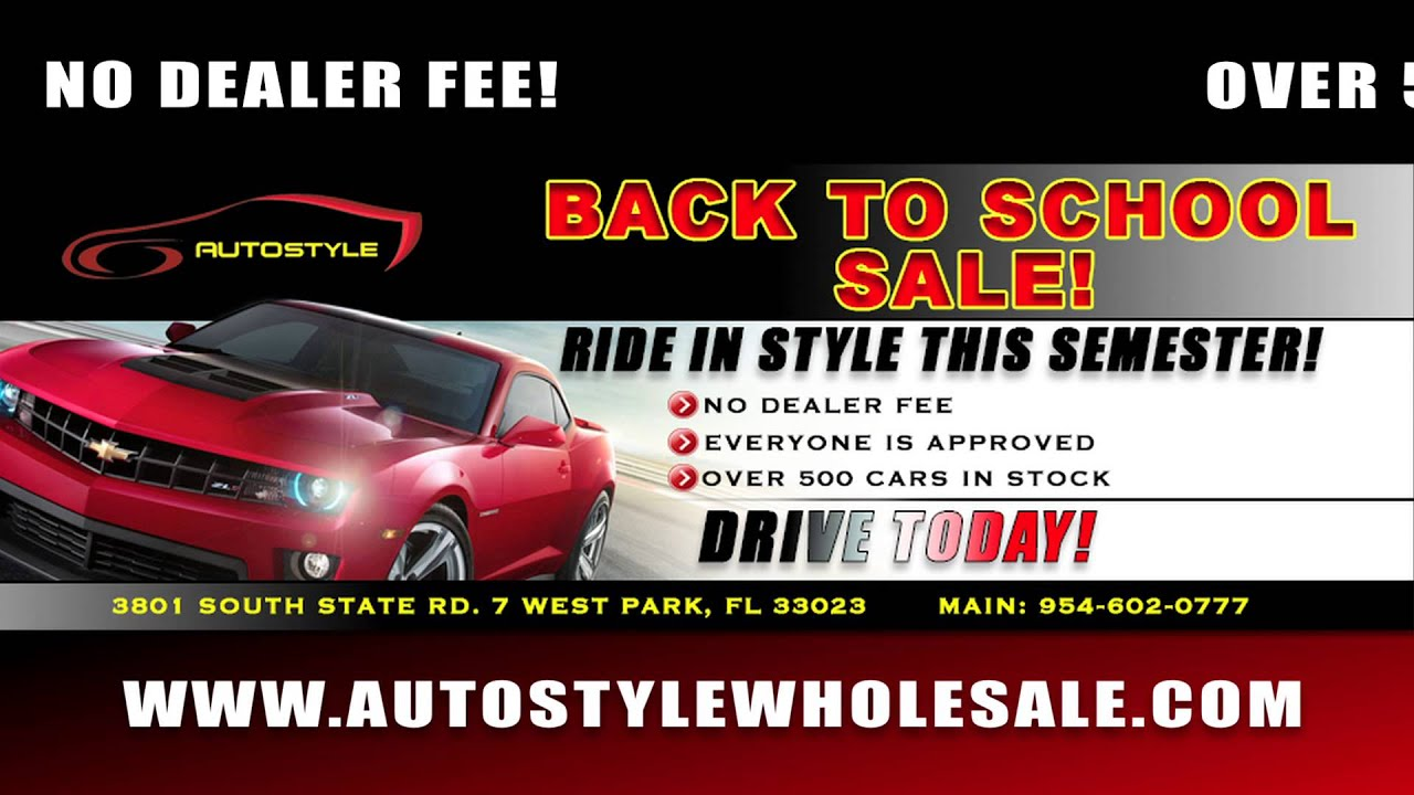 Back To School Sale -- Used Cars Miami -- Used Cars South Florida ...