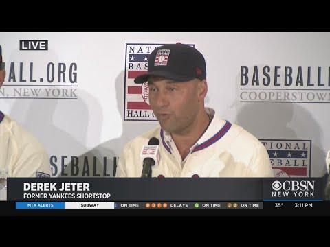 Derek Jeter News Conference After Election To Baseball Hall Of Fame