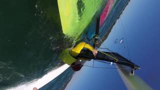 Hobie16 nosedive at Pittwater