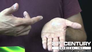 HOW TO REMOVE EPOXY from hands with Surfasolve Hand Wipes Made by 21st Century Chemical