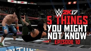 WWE 2K17 - 5 Things You Might Not Know! #10 (Bonus Ladder Finishers, Flaming Table Glitch & More)