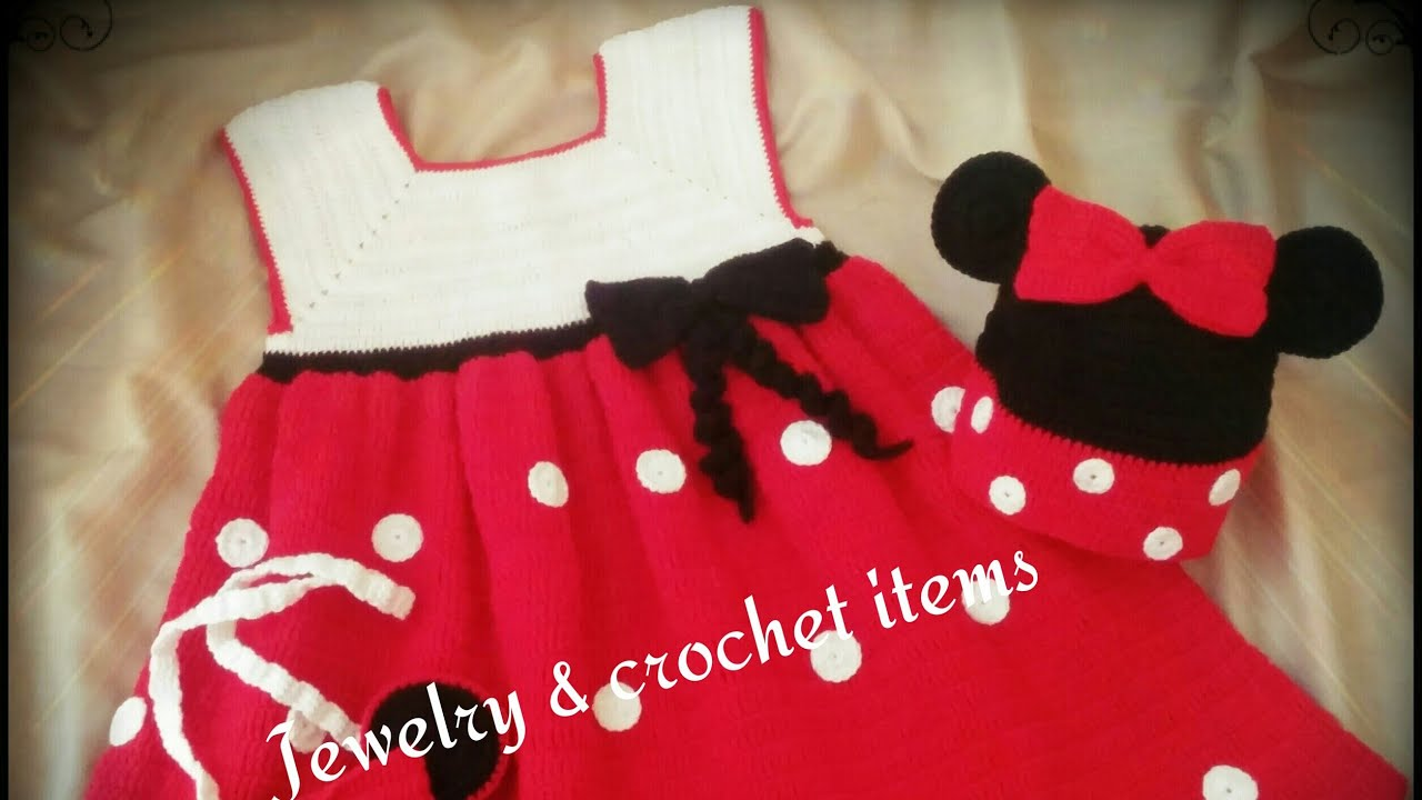 Crochet Minnie Mouse Dress Tutorial Youtube