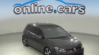G10065JA Used 2016 Volkswagen Golf GTI FWD 4D Hatchback Gray Test Drive, Review, For Sale
