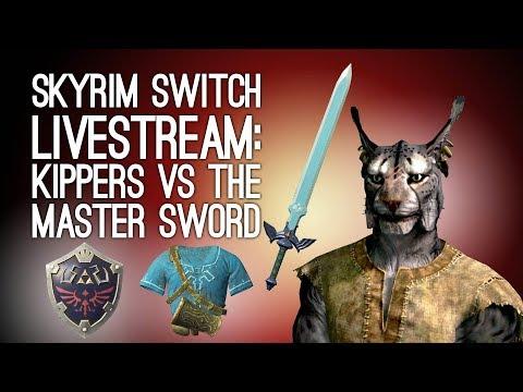 SKYRIM SWITCH LIVESTREAM: Kippers Has the Master Sword! Outside Xtra Plays Skyrim LIVE @ Loading Bar