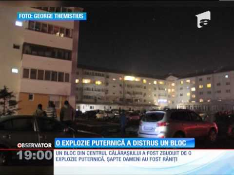 O explozie puternică a distrus un bloc din Călărași