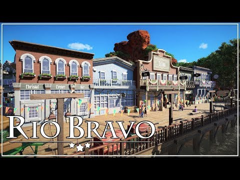 Planet Coaster - Rio Bravo - Finished western park (cinematic park view)