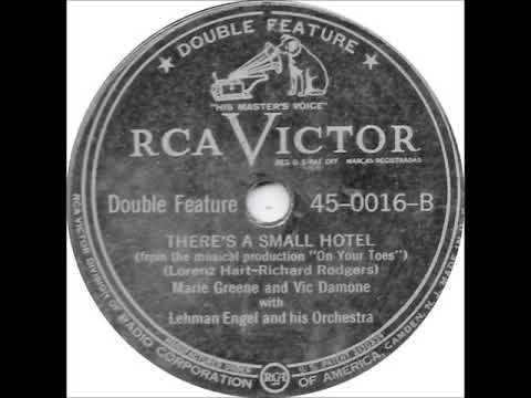 Vic Damone and Marie Greene – There's a Small Hotel, 1947