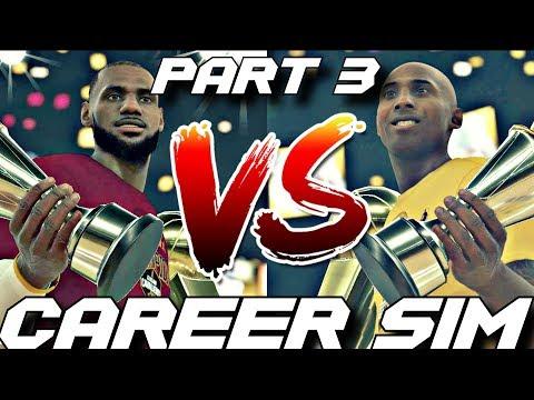 SIMULATING LEBRON JAMES VS. KOBE BRYANT'S NBA CAREERS ON NBA 2K18!! PART 3!! #Careersimvs