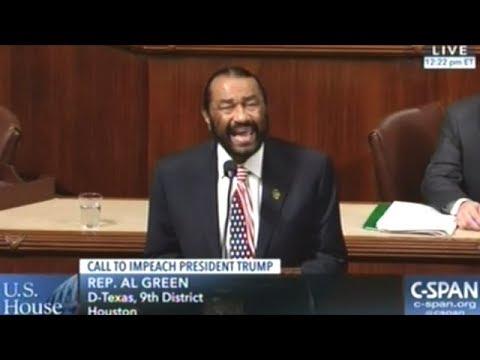 Congressman Al Green Introduces Articles Of Impeachment Against President Donald J Trump!