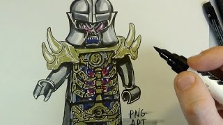 How to draw  EVIL OVERLORD#NINJAGO#LEGO
