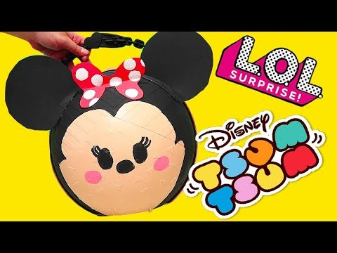 LOL Big Surprise Custom Ball with Tsum Tsum Toys and Dolls ! SWTAD