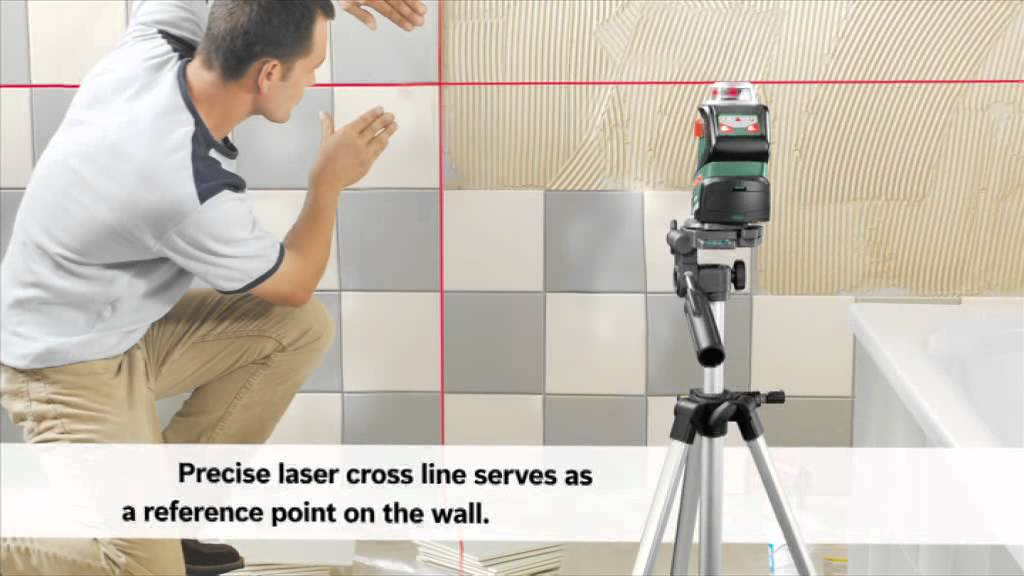 how to fit sockets at the right height with the bosch 360 line laser pll 360 youtube