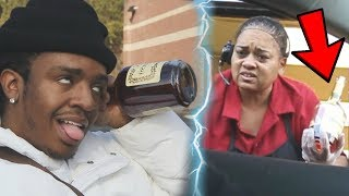 Drinking At The Drive-Thru PRANK *Cops Called*