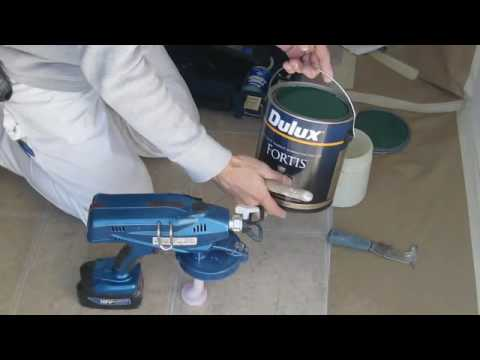 002 graco proshot cordless airless paint sprayer youtube. Black Bedroom Furniture Sets. Home Design Ideas