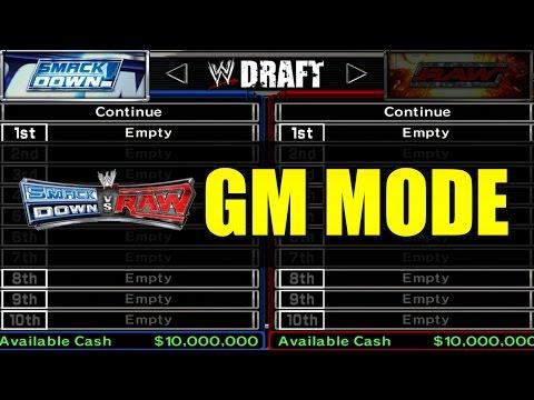 WWE GM Mode - The Smackdown Draft! (WWE SVR 2007)