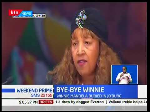 Winnie Mandela Laid To Rest At The Fairways Memorial Park In Johannesburg