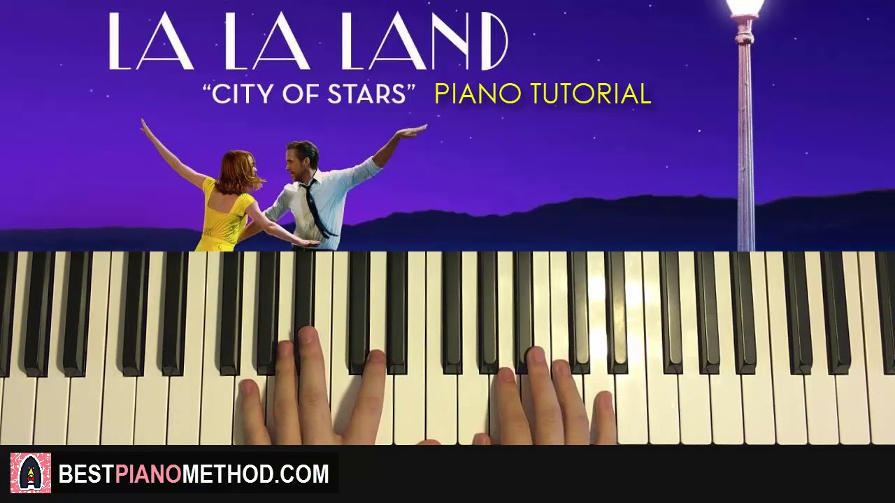 how to play la la land city of stars piano tutorial lesson youtube. Black Bedroom Furniture Sets. Home Design Ideas