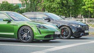 Porsche Taycan Turbo VS Mercedes E63s со светофора. Кто быстрее ?