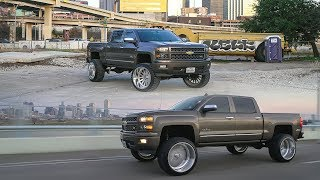 2014 Chevy Silverado LTZ lifted 9 inches with 26x14 American Forces in DFW!