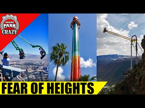 Top 10 SCARIEST Rides  Fear of Heights